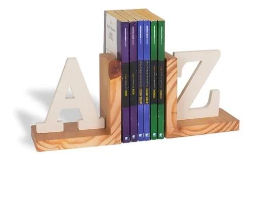 Suporte de Pinus/MDF Para Livros AZ - Areia