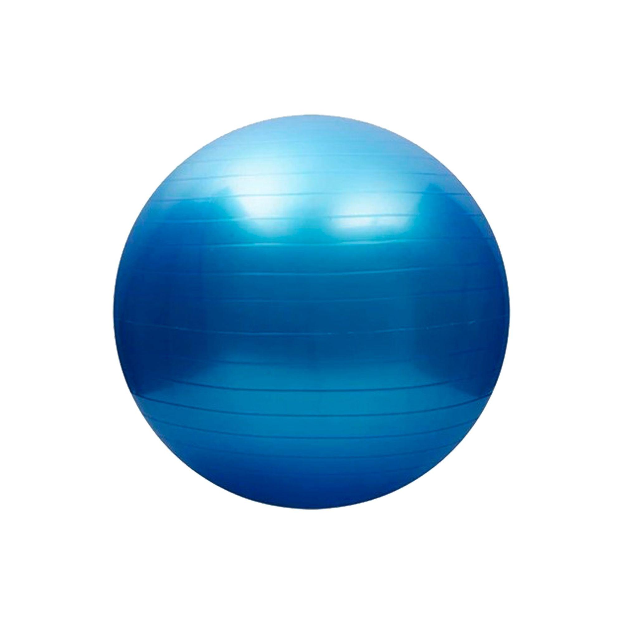 Bola de Pilates Antiestouro 65cm Azul