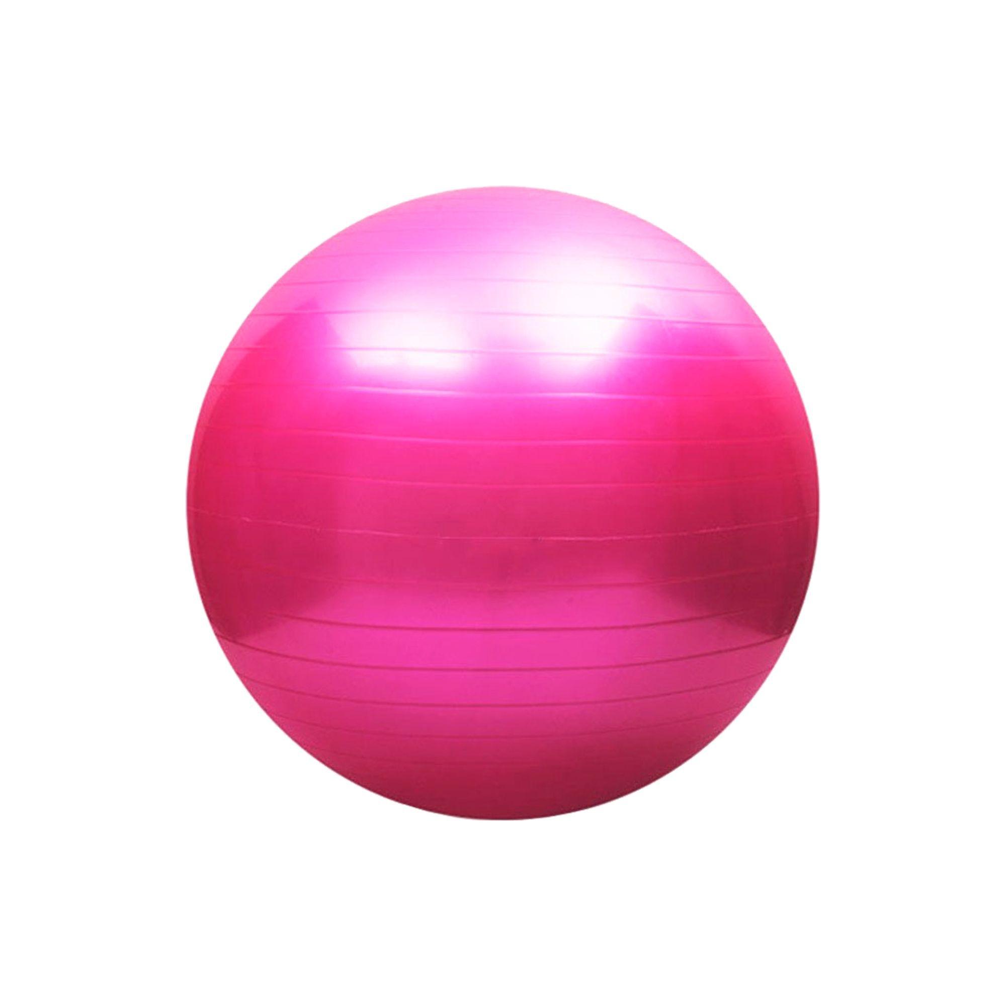 Bola de Pilates Antiestouro 65cm Rosa