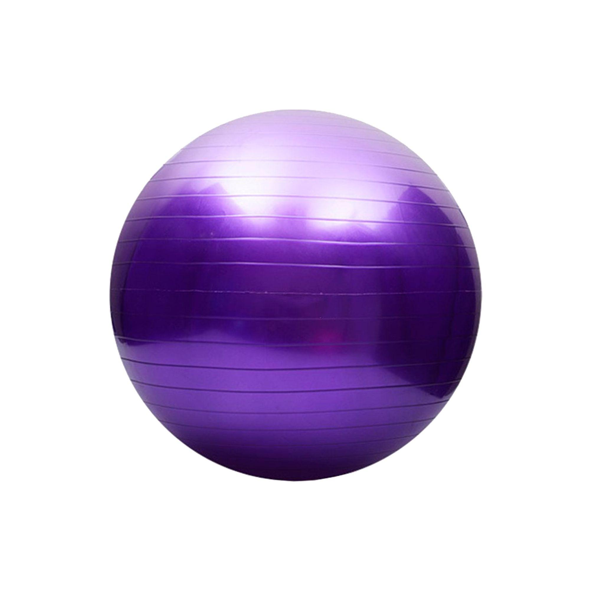 Bola de Pilates Antiestouro 65cm Roxo
