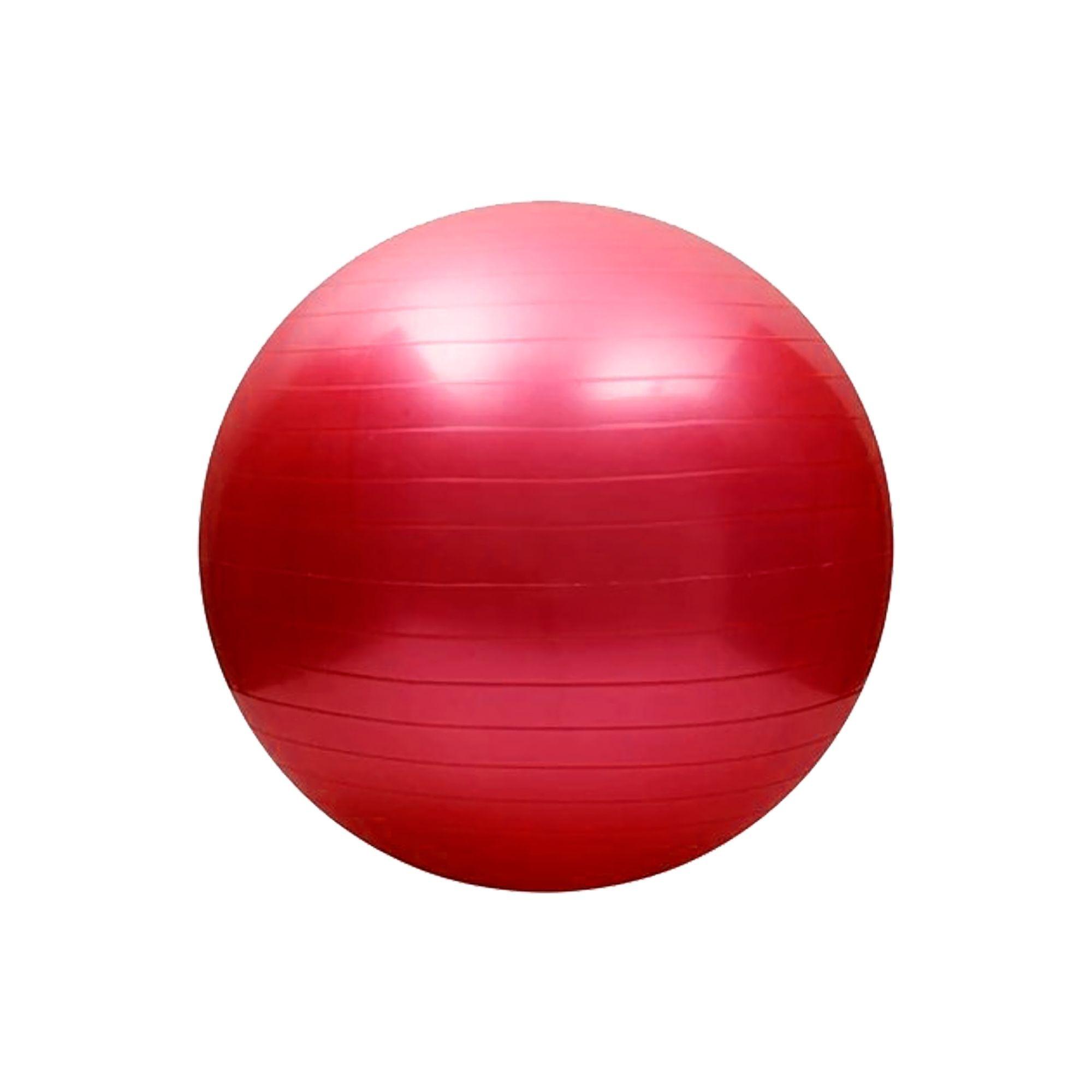 Bola de Pilates Antiestouro 65cm Vermelho