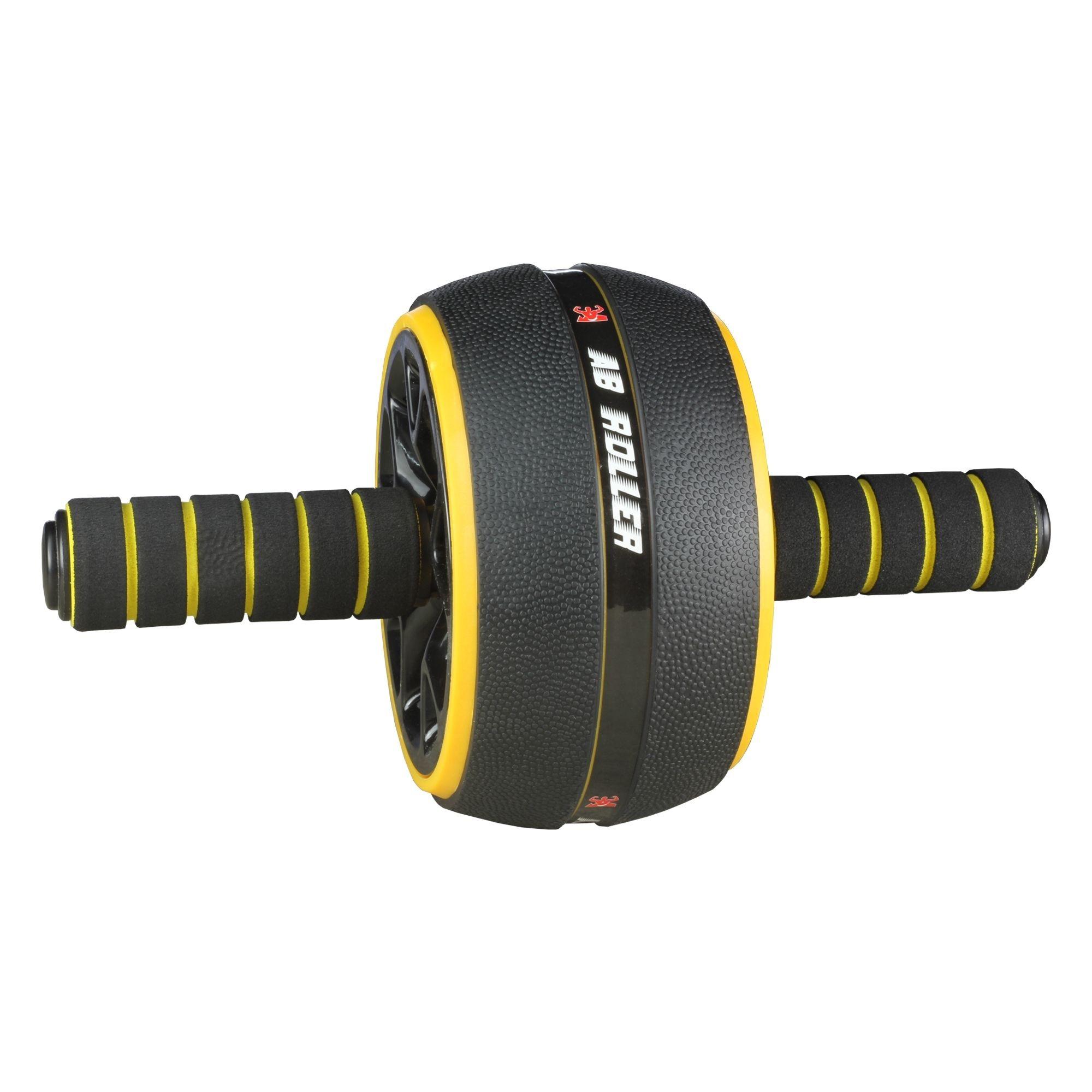 Roda Abdominal - Ab Wheel PRO Amarelo e Preto