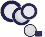 Aparelho de  Jantar/Chá 30 Peças Versa/Brasília Germer Royal Blue