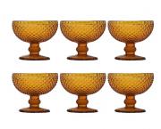 Jogo de Taças Para Sobremesa 6 Peças Home  Co Imperial 150Ml Vidro Âmbar