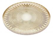Prato Para Servir Queen Em Cristal 32cm Âmbar