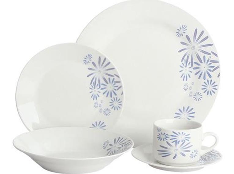 Aparelho de Jantar em Porcelana 20 peças Cisne