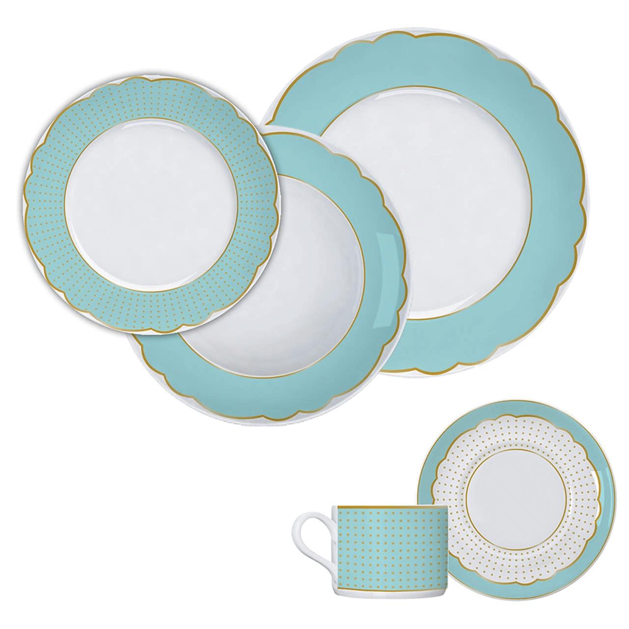 Aparelho de  Jantar e Chá 30 Peças Versa/Brasília Germer Royal Tiffany