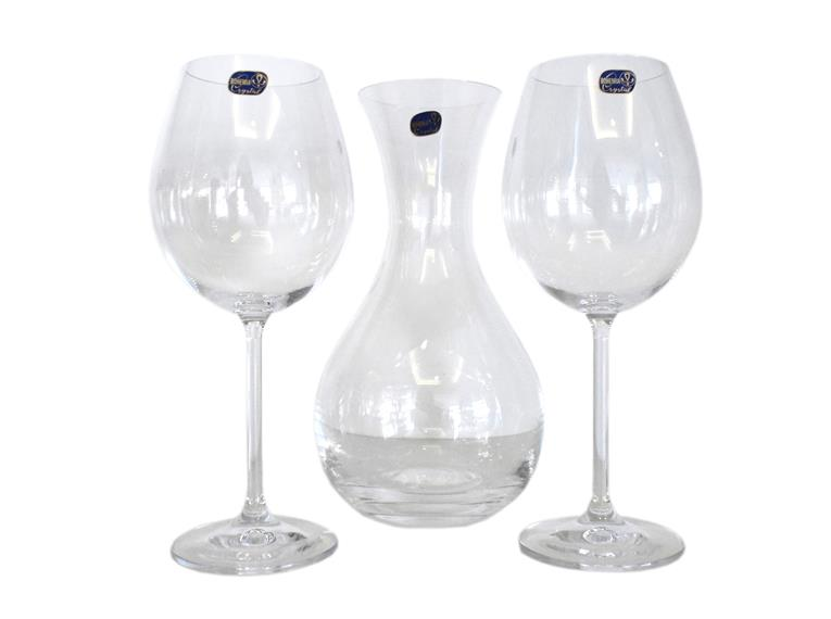 Conjunto 2 Taças Gourmet 580ml  Com Decanter 1,25ml Bohemia