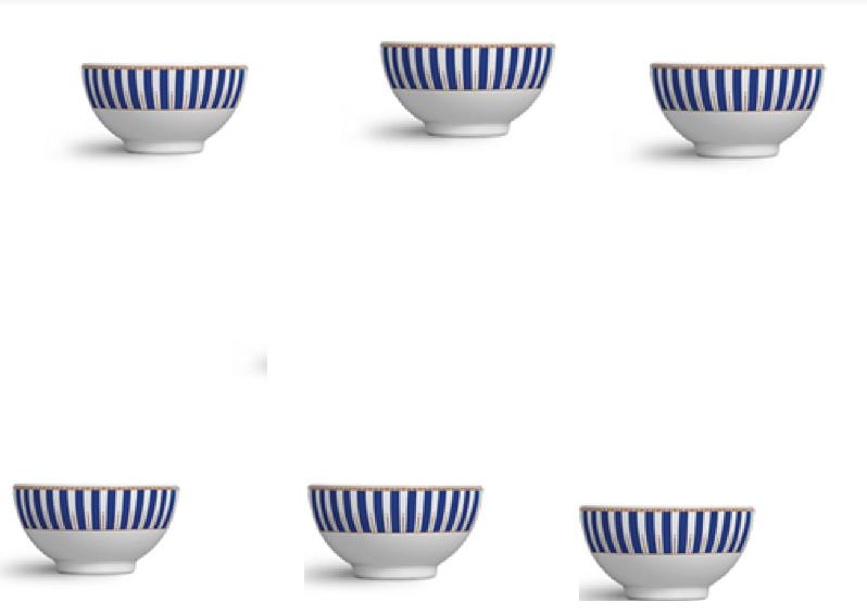 Jogo Bowls Para Sopa 6 Peças Art Deco