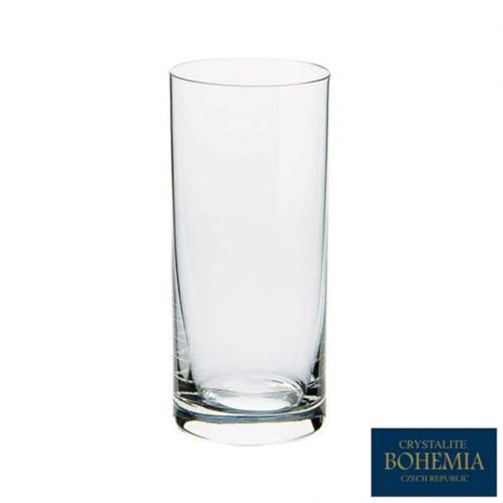 Jogo De Copos Altoss 350ml Barware/Larus Titanium Crystalite Bohemia de Cristal 6 Peças