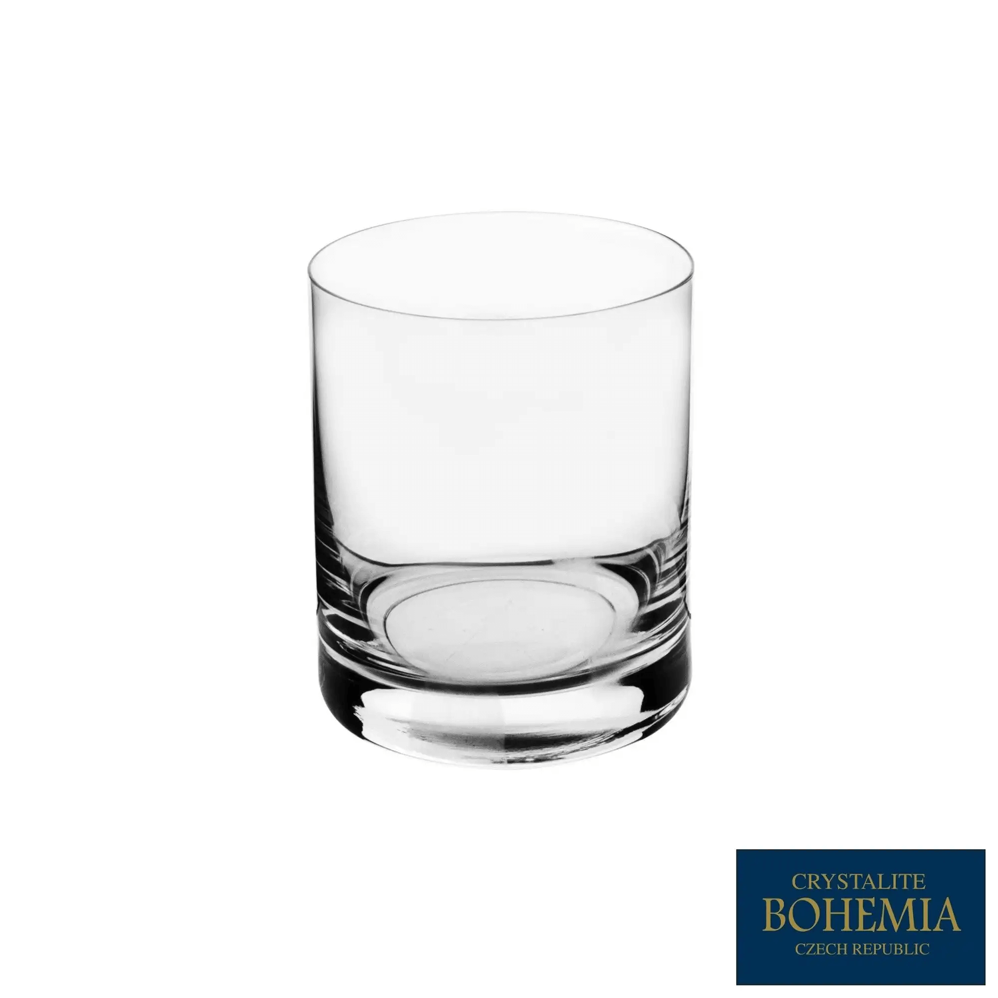 Jogo De Copos Baixos 320ml Barware/Larus Titanium Crystalite Bohemia de Cristal 6 Peças