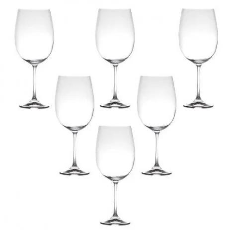 Jogo de Taça de Vinho De Titânio Gastro Luxo Milvus 640ml 6 peças