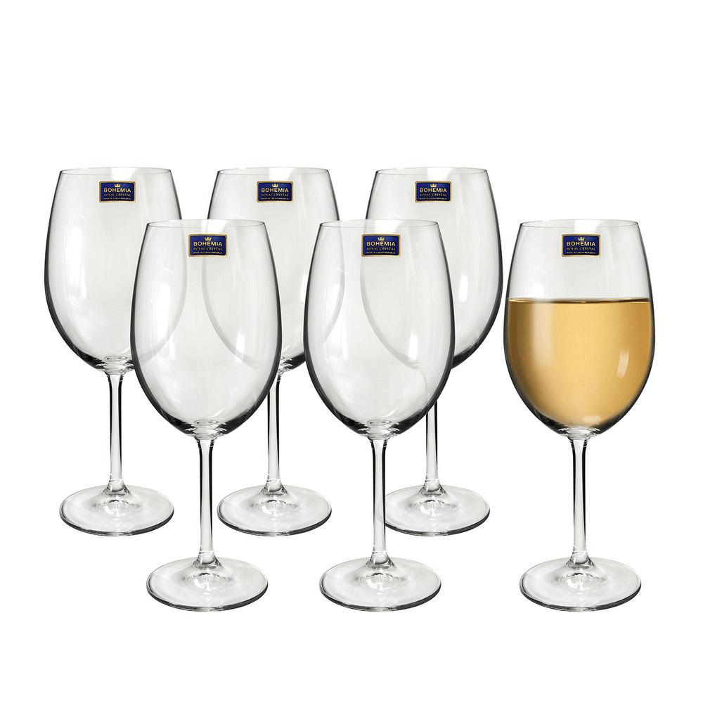 Jogo de Taças 6 Peças Para Vinho de Cristal Natalie 350ml Bohemia