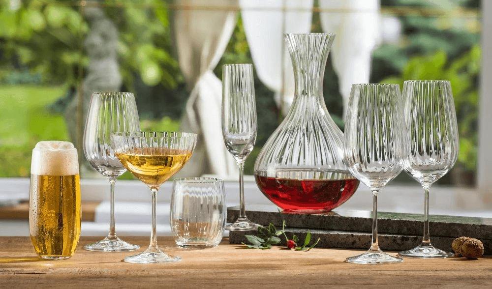 Jogo de Taças Cristal Para Vinho Waterfall 6 Taças- Bohemia 350ml