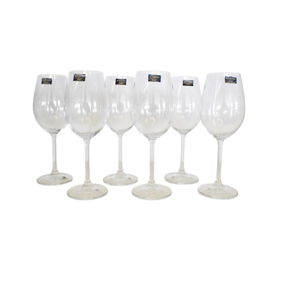 Jogo de Taças de Vinho Branco Gastro 350 ml 6 Peças Cristal Bohemia