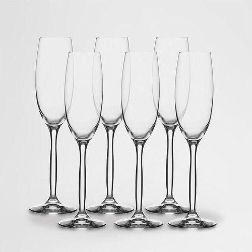 Jogo de Taças para Champagne Chanson Cristal Eco 220 ml 6 Peças - Bohemia