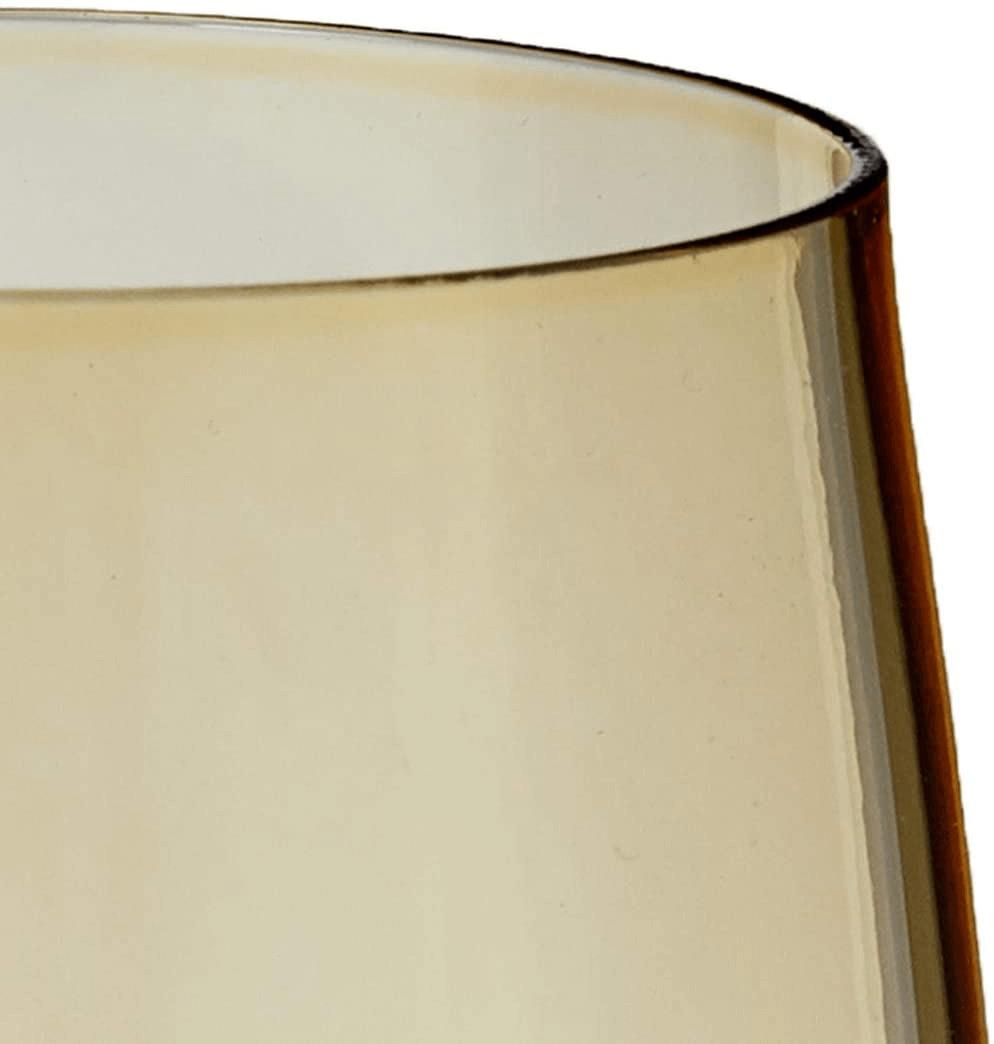Jogo De Taças Para Champagne De Cristal Com Titanium Klara Ambar 220ml 6 Peças
