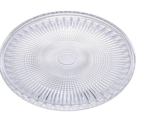 Prato De Cristal Para Bolo Queen Transparente 32x11cm Wolff