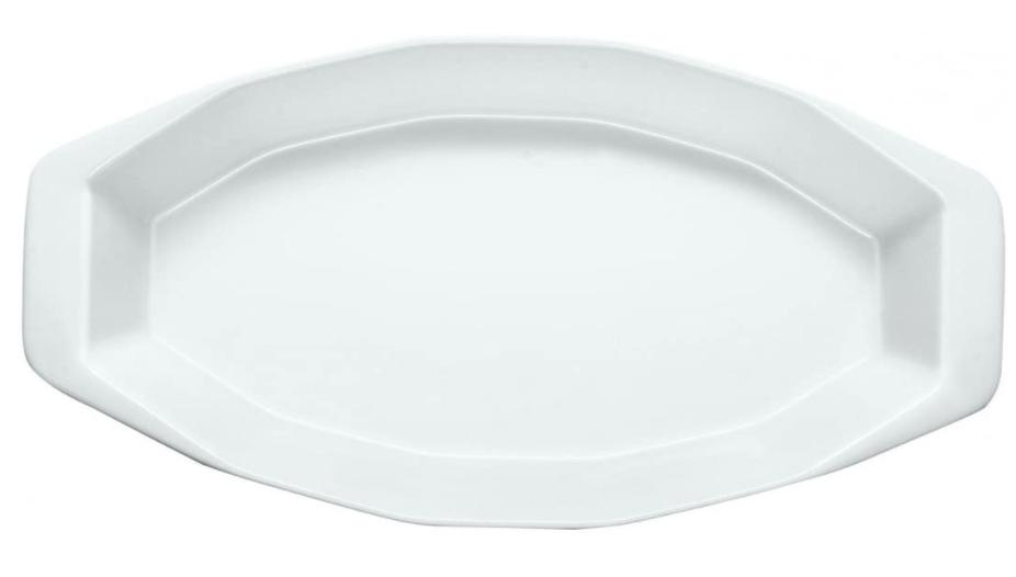 Travessa De Porcelana Losangular Branca 39 Cm -Germer