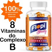 MULTIVITAMÍNICO VITAMINAS DO COMPLEXO B FLOPI BEAUTY 60 CÁPSULAS
