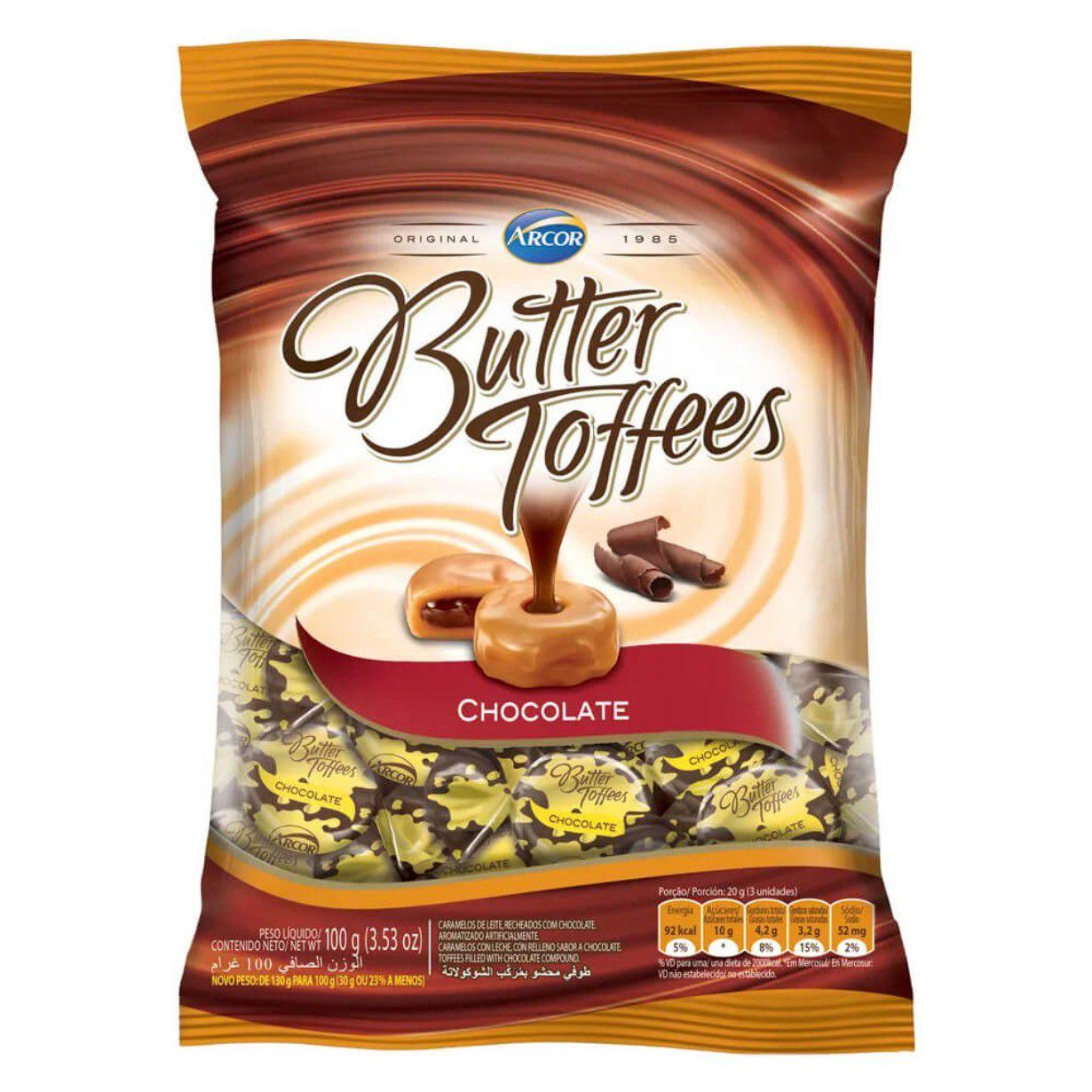 BALA BUTTER TOFFES 500G ARCOR ESCOLHA O SABOR