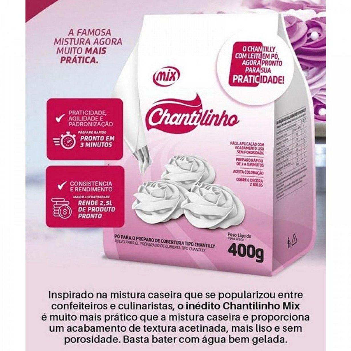CHANTILINHO PO P/COBERTURA CHANTILLY 400G MIX