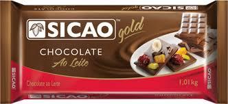 CHOCOLATE SICAO GOLD BARRA 1,01KG ESCOLHA O SABOR