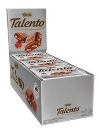CHOCOLATE TALENTO DIET AVELÃ DISPLAY 15UNX25G GAROTO