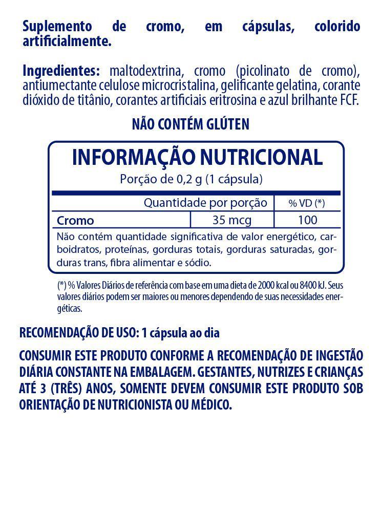 PICOLINATO DE CROMO FLOPI BEAUTY POTE 60 CÁPSULAS