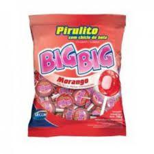 PIRULITO BIG BIG ARCOR C/RECHEIO DE CHICLE PACOTE 600G / 50UN ESCOLHA O SABOR