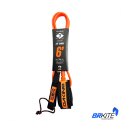"DAKINE- LEASH SURF JOHN FLORENCE 6"" X 1/4  BLACK / ORANGE"