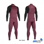 ION - WETSUIT BS - ONYX CORE SEMIDRY 3/2 FZ DL RED/BLACK