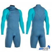 ION - WETSUIT BS - ONYX CORE SHORTY LS 2/2 FZ DL AQUA BLUE