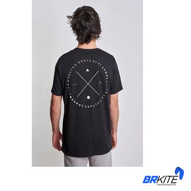 AUSTRAL -Camiseta Nuestro Norte Costas Preto Plain