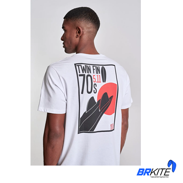 AUSTRAL - Camiseta Surf N Jazz Branca