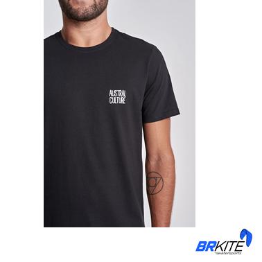 AUSTRAL - Camiseta Surf N Jazz Preto Plain