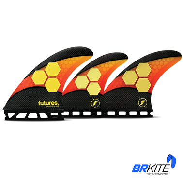 FUTURES - QUILHAS AM2 TECHFLEX C/3 LARGE ORANGE