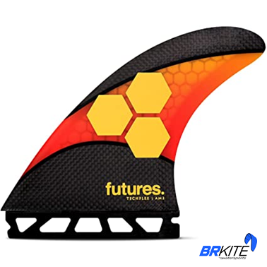FUTURES - QUILHAS AM2 TECHFLEX C/5 FINS LARGE RED/ORANGE
