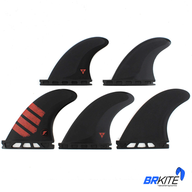 FUTURES - QUILHAS F4 ALPHA C/5 FINS SMALL CARBON RED