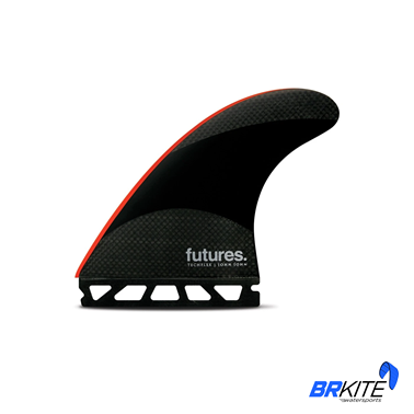FUTURES - QUILHAS JJ2 TECHFLEX THRUSTER C/3 LARGE BLACK/BRIGHT RED