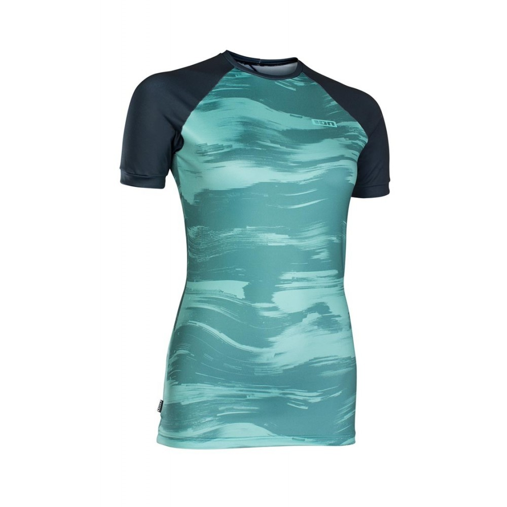 ION - LYCRA WOMEN RASHGUARD SS 2019 MUSE SEA GREEN/DARK BLUE