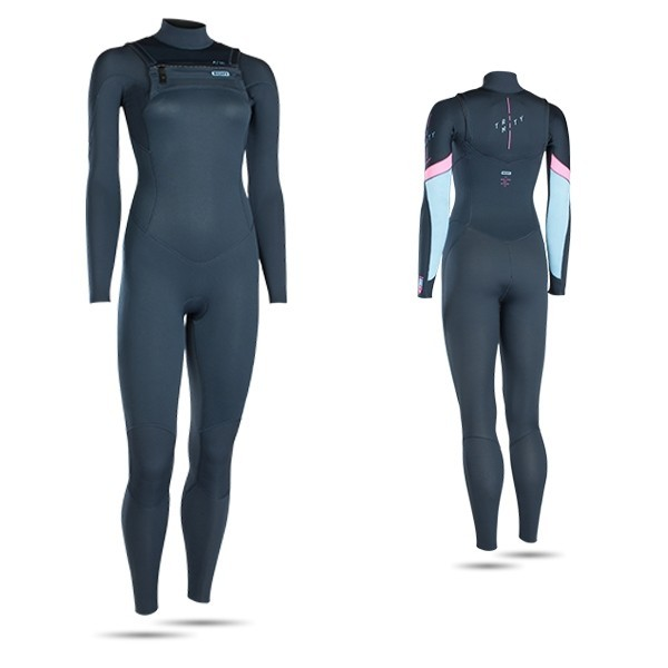 ION - WETSUIT WOMEN TRINITY ELEMENT SEMIDRY AZUL ESCURO 3/2 FZ DL