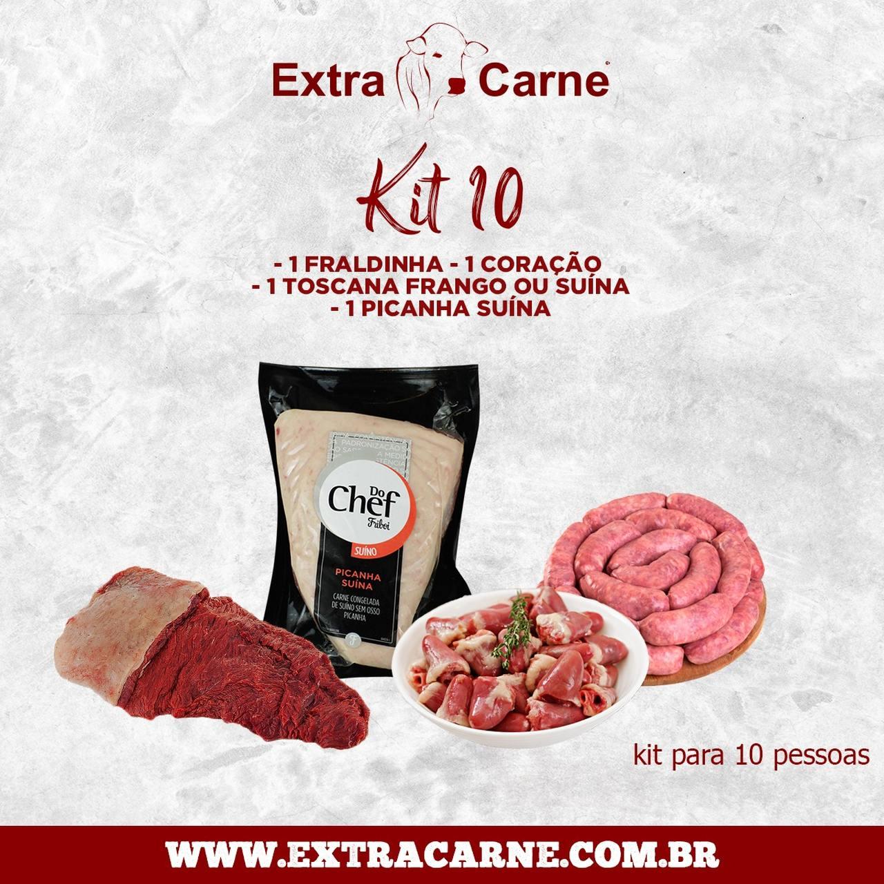 KIT 10 - SERVE 10 PESSOAS