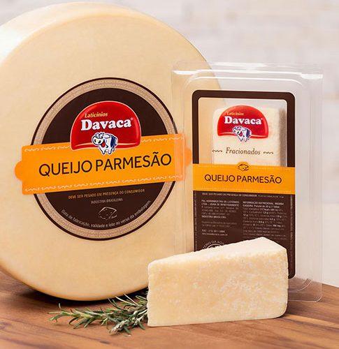 QUEIJO PARMESÃO DAVACA PEÇA COM 250 GRAMAS
