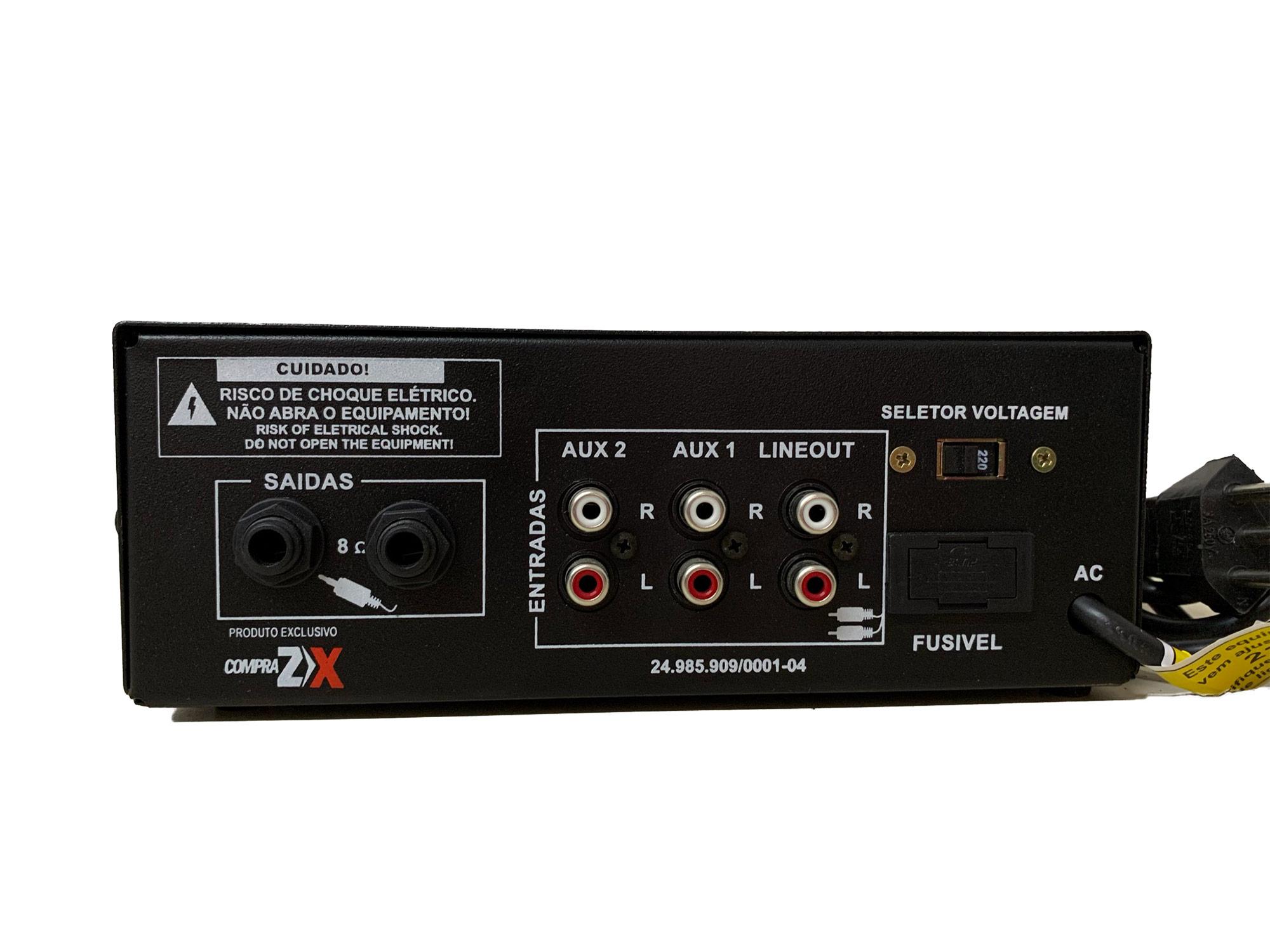 Amplificador para Som Ambiente Baroon BHDS100 100W