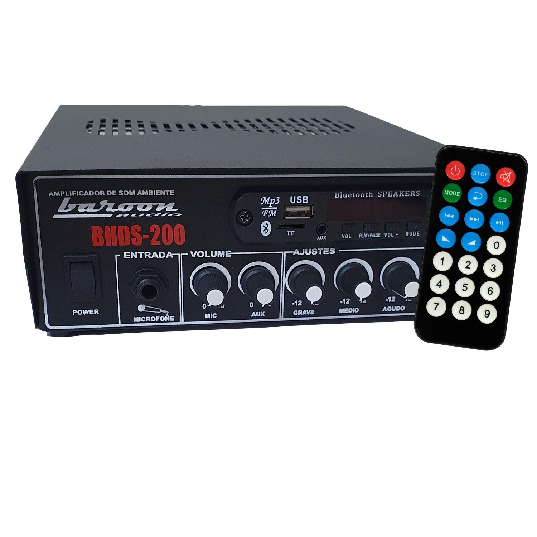 Amplificador para Som Ambiente Baroon BHDS200 200W