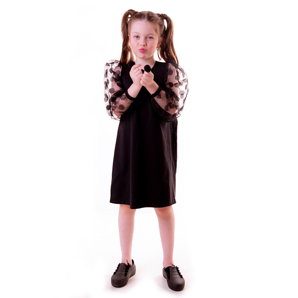Vestido Cotton Light e Tule Poás