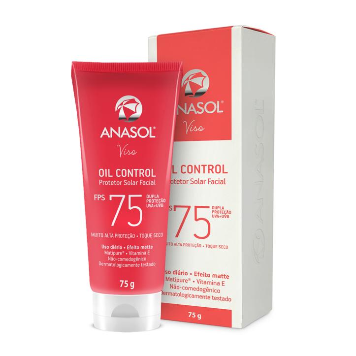 Anasol Protetor Solar Facial Oil Control FPS 75 - 60 g