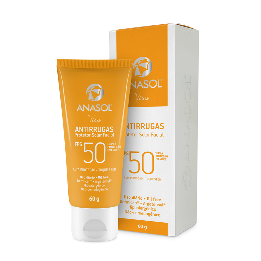 Anasol Viso Protetor Solar Facial Antirrugas FPS 50 - 75 g