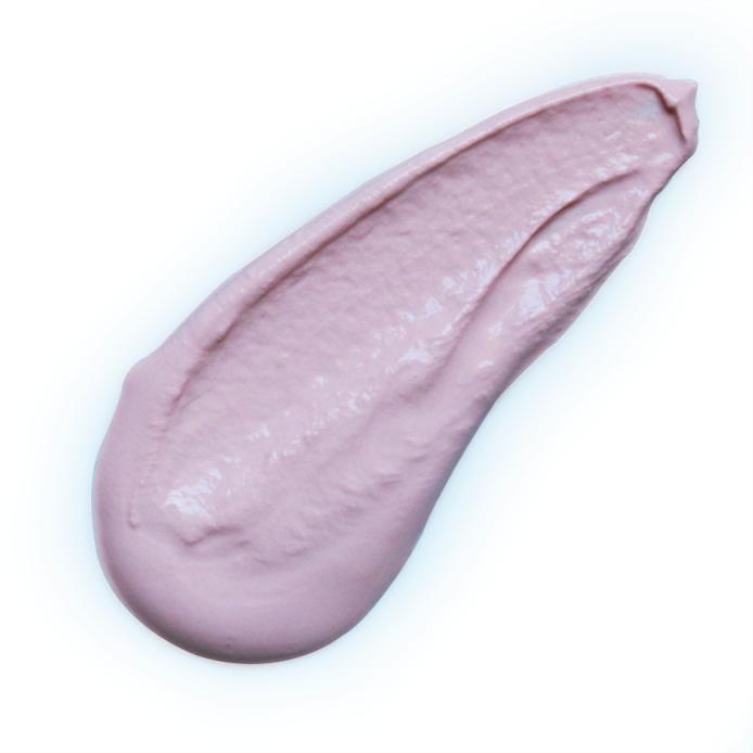 Argila rosa em pó